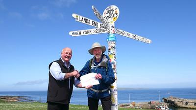 Arrival in John O'Groats - A major milestone!