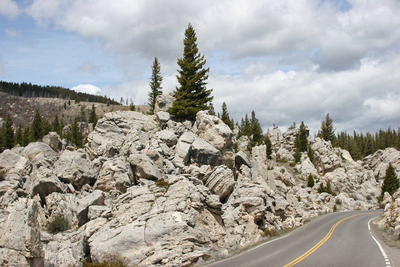 The Hoodoos - mounds of unusual rock formations