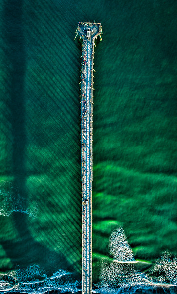 Aerial Kure Beach NC Fishing Pier Photographs