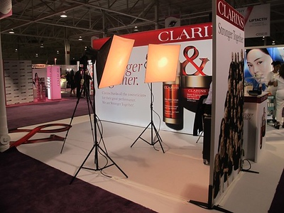 Clarins-booth