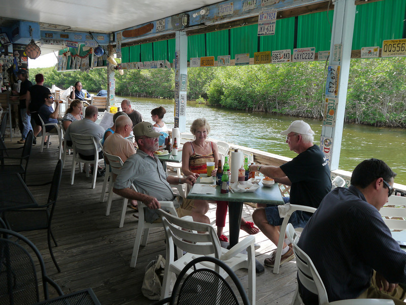 Lunch stop at Alabama Jacks - featured on Guy Fieri's Diners, Drive-ins and Dives, Key Largo, Florida