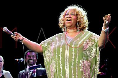New York, NY - February 18:  The Aretha Franklin Concert, New York, USA.