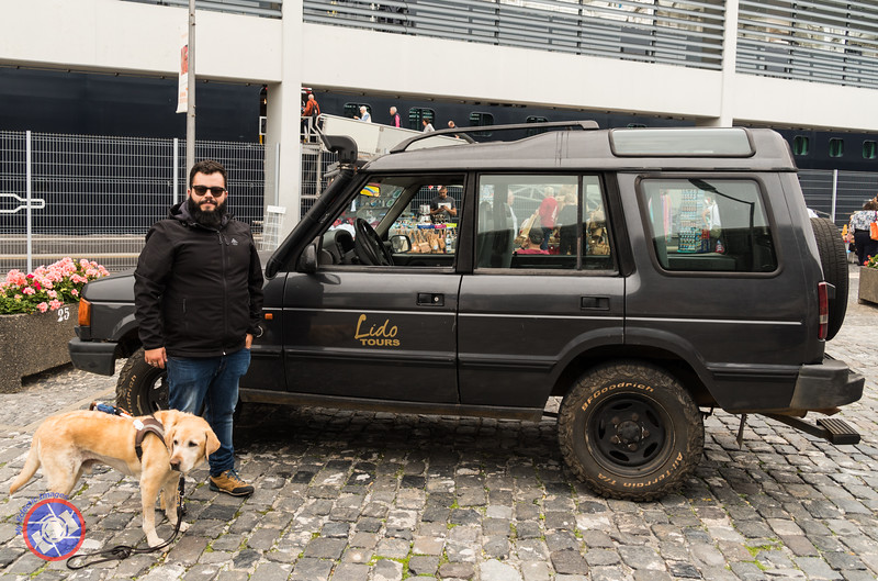 Our Guide, Diogo, Posing with his Vehicle and a Rather Disinterested Otto (©simon@myeclecticimages.com)