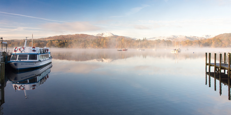 Misty morning at Ambleside Pier