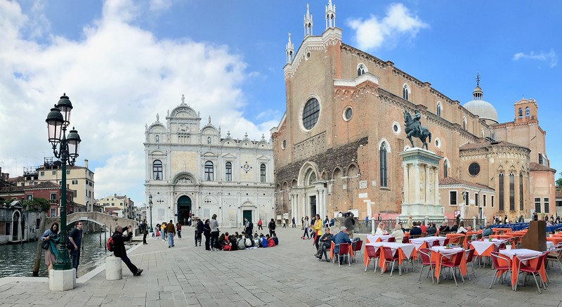 The 14th century Basilica di San Giovanni e Paolo on the right and on the left is Scuola Grande di San Marco which today is a hospital (YES! That is their hospital)