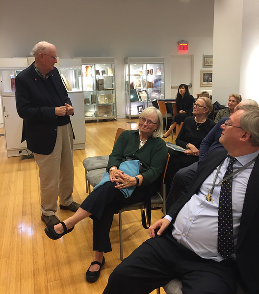 My talk at Bonhams, New York City, September 24, 2018. Joe and Beth Fitzsimmons and Tom Lamb.