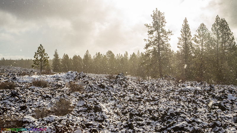 Snowy Day at the Newberry National Volcanic Monument