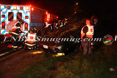 North Babylon Fire Co. Overturned Auto w/ Entrapment & Medevac W/B Southern State Pkwy between Exits 37 & 38 5-17-12