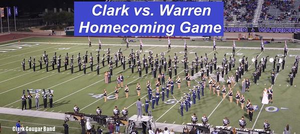 20161021 Clark vs. Warren Homecoming Game