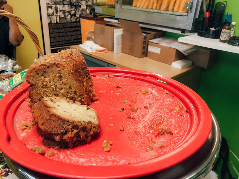 Rum Cake at Jamrock Cuisine Restaurant