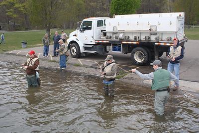 Stocking Fish, Locust Lake State Park, Barnesville (4-28-2012)