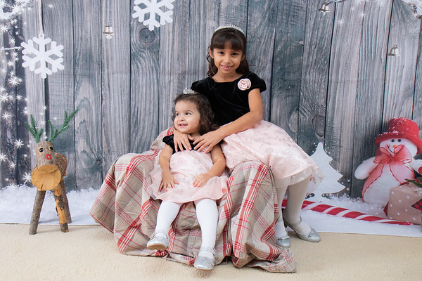 Madelyn & Lillyn Christmas Pictures 2018