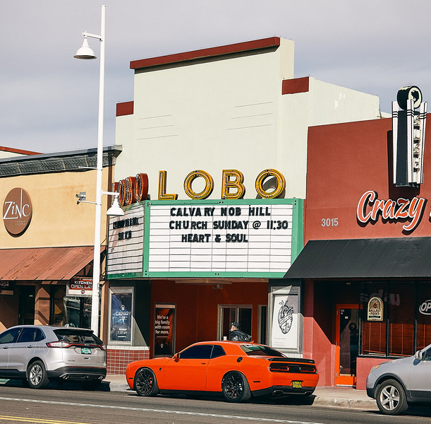 Route 66 - LOBO cinema, Nob Hill, Albuquerque,