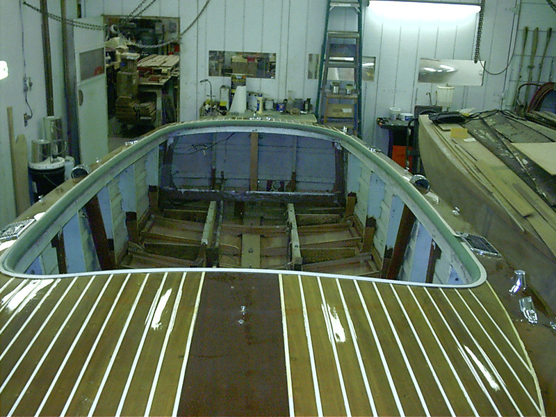 Looking towards the rear at the new bottom before paint.