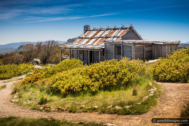 Craig's Hut, Clear Hills, near Mt Stirling. Due to fires, this hut has been rebuilt several times. Originally built for The Man from Snowy River films, it is now solely a tourist attraction, with the fireplace covered and padlocked, and with no facilities inside. A toilet block, some tank water and picnic tables are nearby.