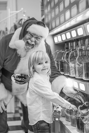 Liam meets Santa at Sweet Pete's Candy in Jacksonville Florida