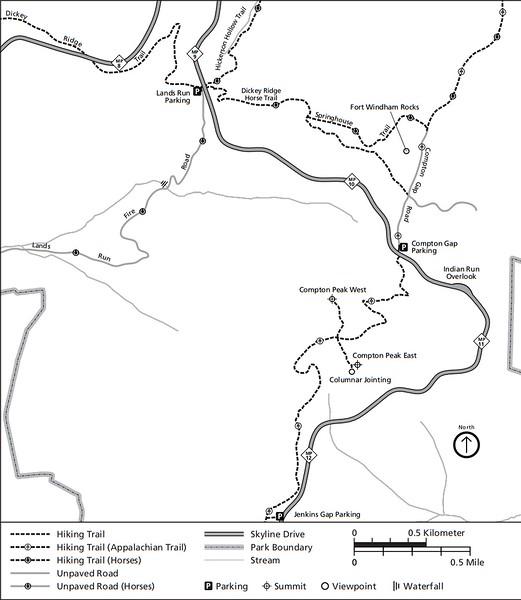 Shenandoah National Park (Trails - Compton Area)