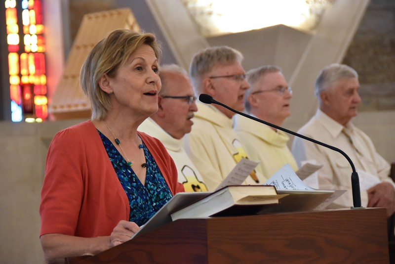 Our cantor, Mary MacDonald