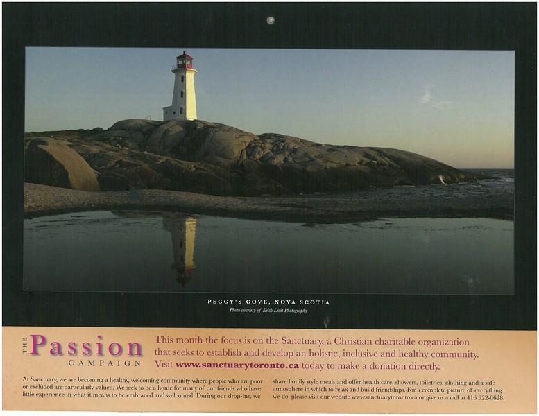 2009 Passion Campaign Calendar May 2009 Peggy's Cove, Nova Scotia page.jpg