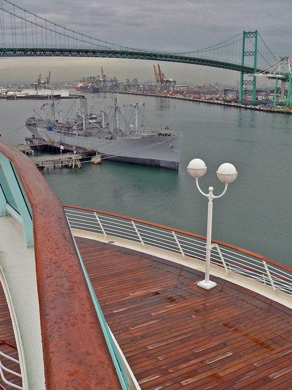 View of San Pedro from the aft deck