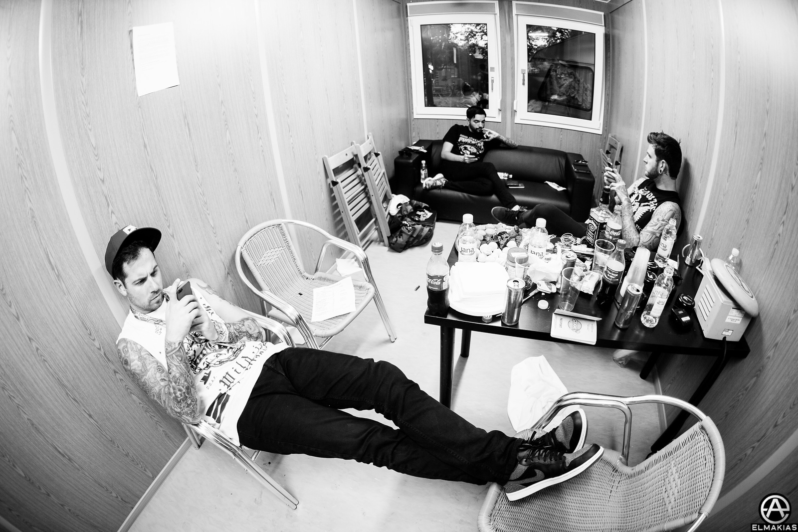 After the set hanging in the dressing room at Sziget Festival!