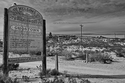 Terlingua Ghost Town in Black & White