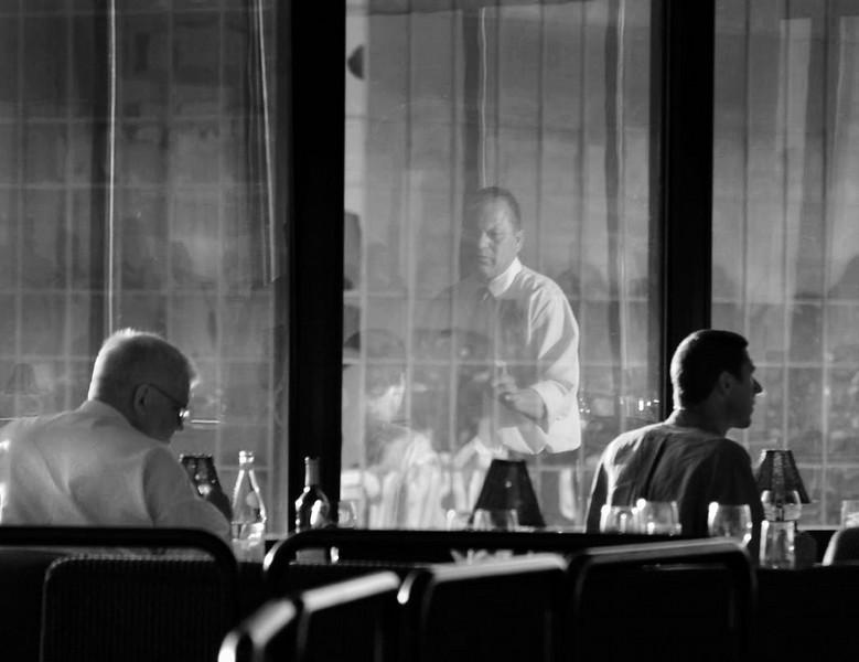 Dining Alone BW.jpg