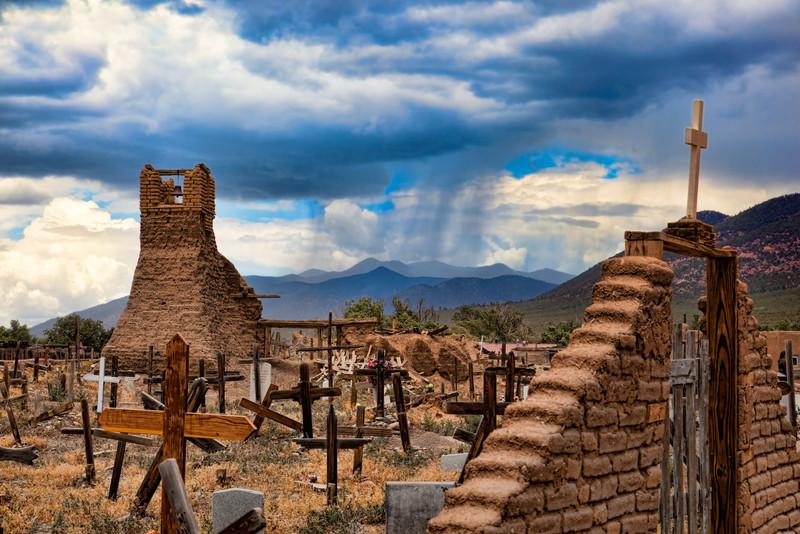 Taos Pueblo, the rain is coming!