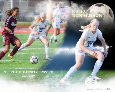 Girls Soccer Collages