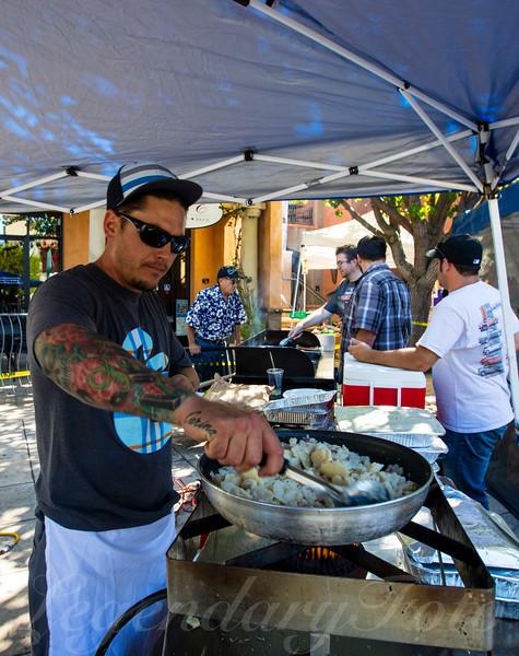 Gary Cooking at Oktoberfest 2015