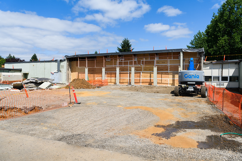 Judson Middle School's cafeteria expansion under construction on Friday, August 16, 2019, in Salem, Ore.