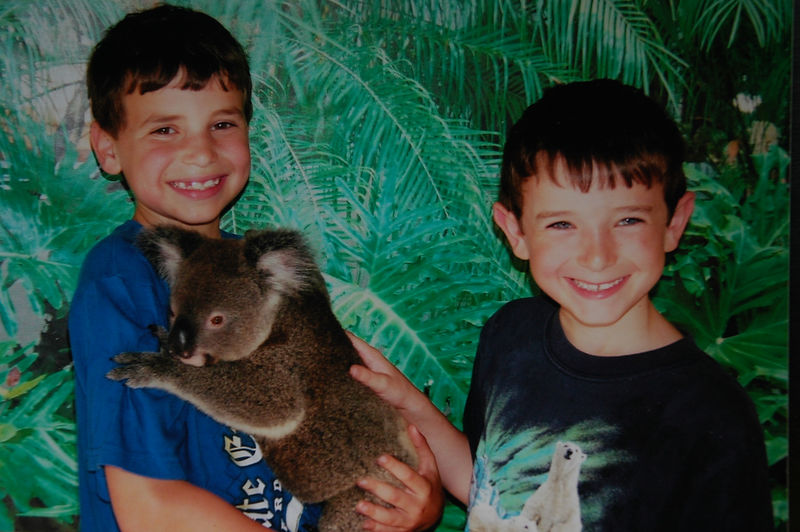 Alex and Larry with a koala.JPG