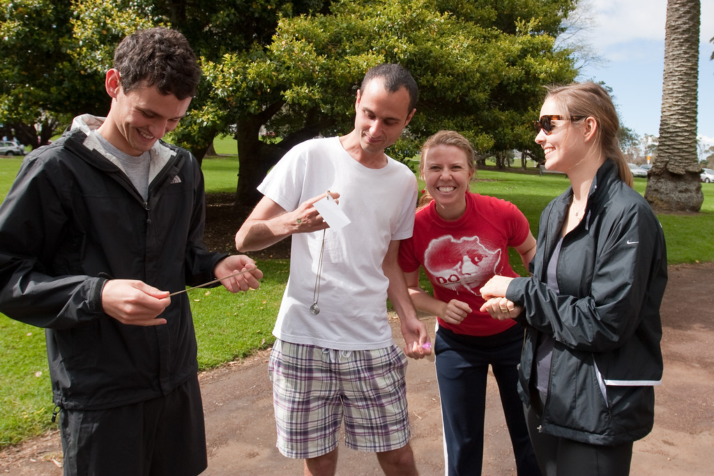 THP Hike_121-1 The Hunger Project Hike4Hunger<br /> Waldo Randal, Henry Randal, with their ndoro Necklaces. Charlotte Reynolds, Charlette Bunn