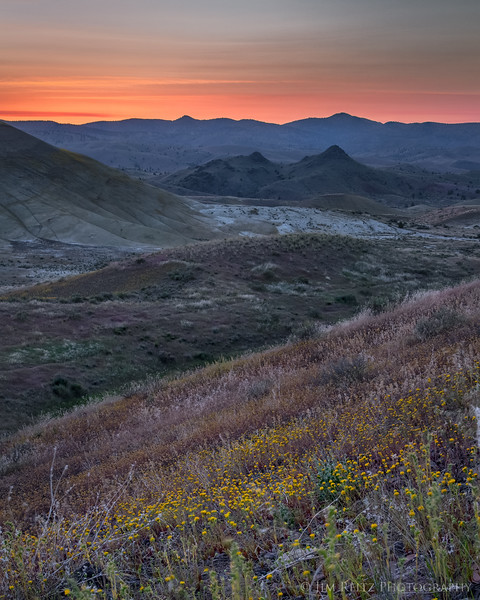 Painted Hills area of the John Day Fossil Beds National Monument in central Oregon