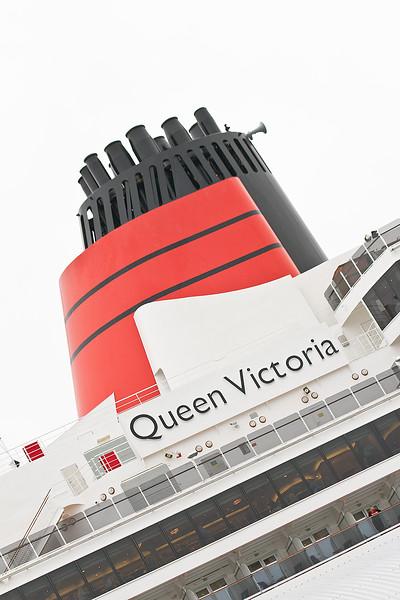 Cunard Queen Victoria. 29th November 2013. Southampton. Princes Trust Thanks a Million.