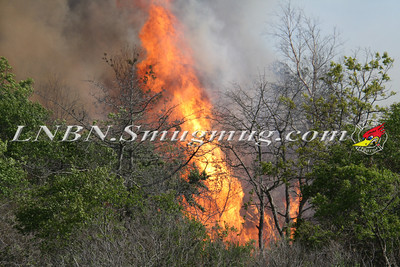 "Copiague F.D. Brush Fire  ""Indian Island Nature Preserve"" E. Santa Barbara Rd & Sunrise Ave. 5-20-14"