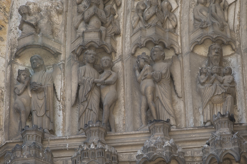 Chartres Cathedral South Porch Archivolt, The Saved