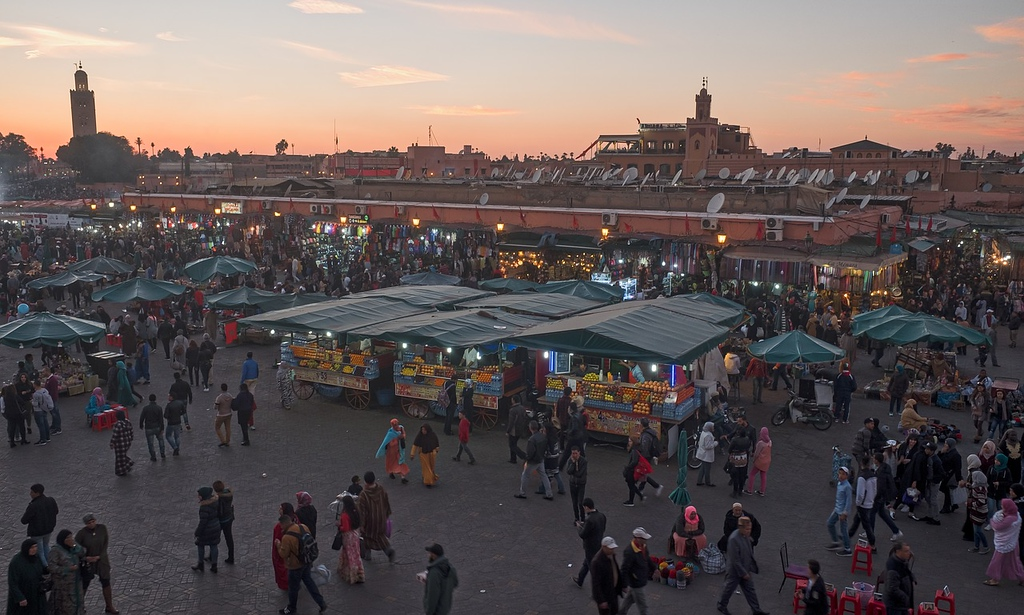Djemaa el-Fnaa in Marrakech