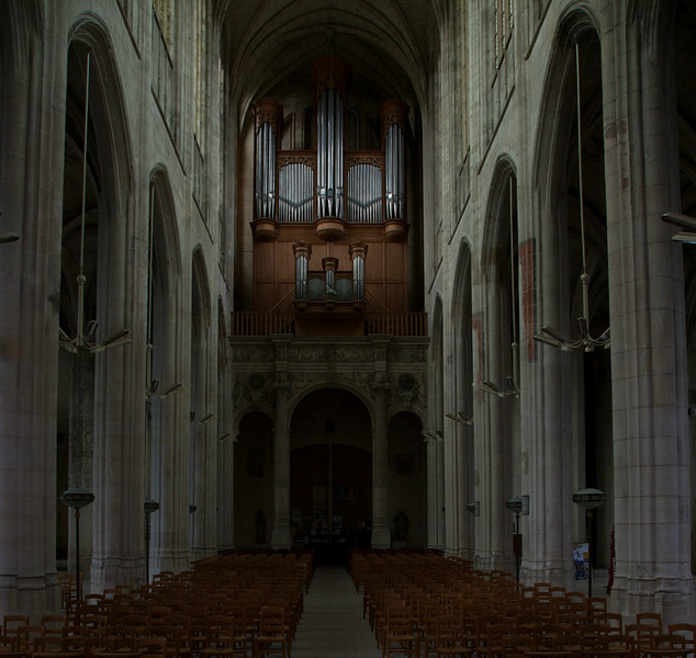 Gisors, Saint-Gervais-Saint-Protais Church Nave and Organ Loft