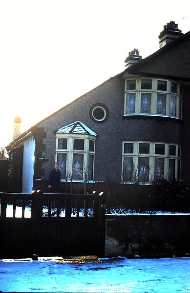 1960-1-10 (18) Mrs Nesbit in her front garden, Kent.JPG