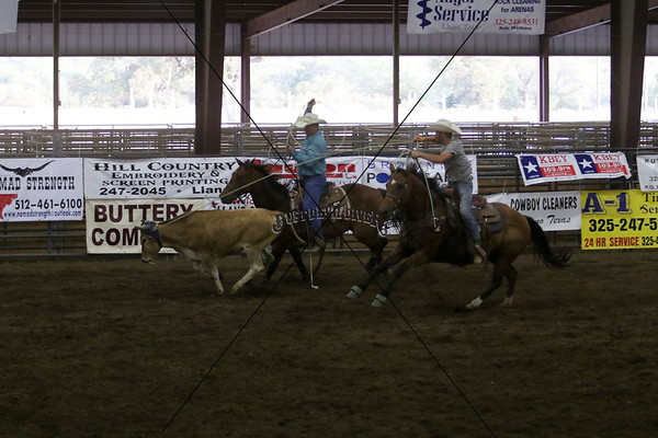 Llano County Team Roping 3rd Go