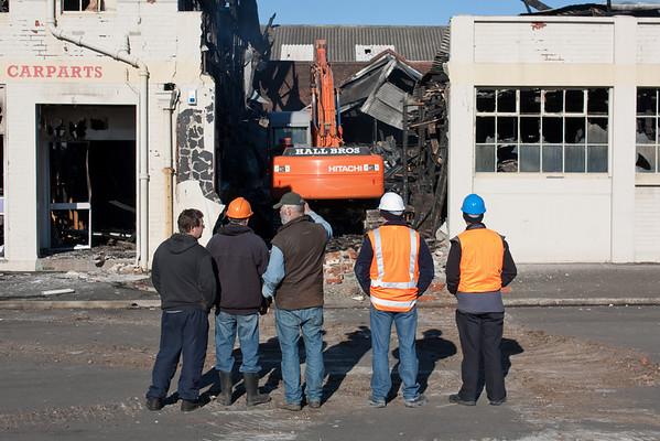 Car parts store demolition