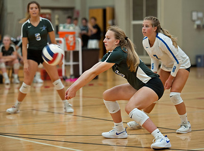 St. Charles North girls volleyball vs. Benet