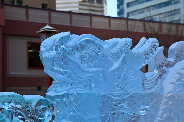Calgary Chinese New Year 2012 Ice Carving