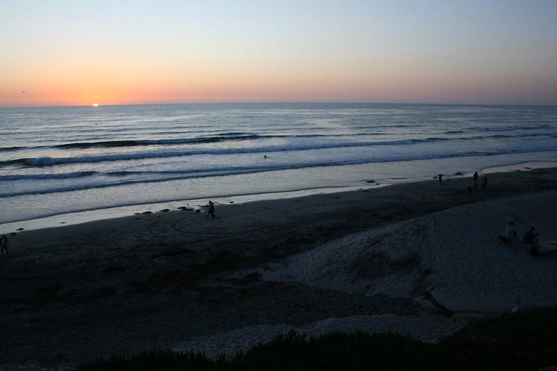 Sunset at Moonlight Beach