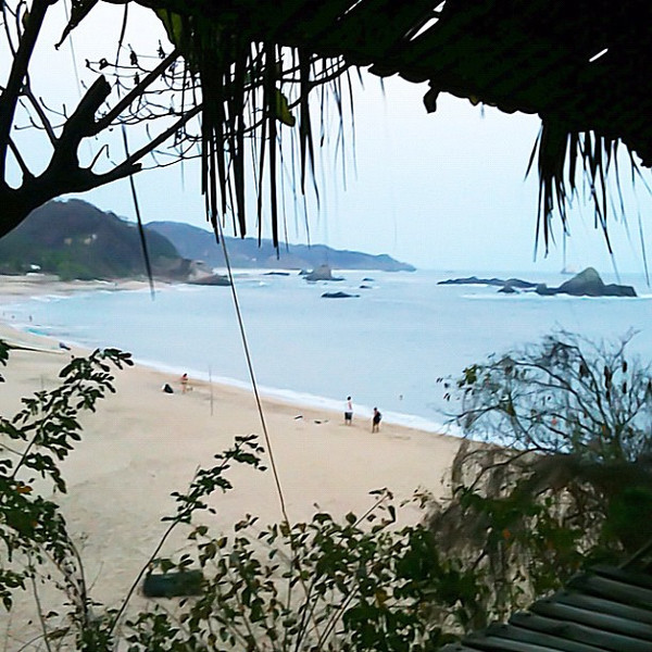 Just arrived, room with a view - Mazunte #Mexico