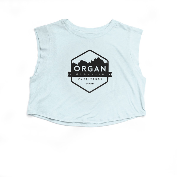 Organ Mountain Outfitters - Outdoor Apparel - Womens - Classic Festival Cropped Tank - Ice Blue.jpg