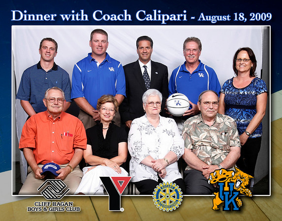 Group Photos with Coach Calipari