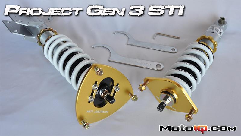 Project Gen3 STi GR suspension M7 coilovers SUbaru