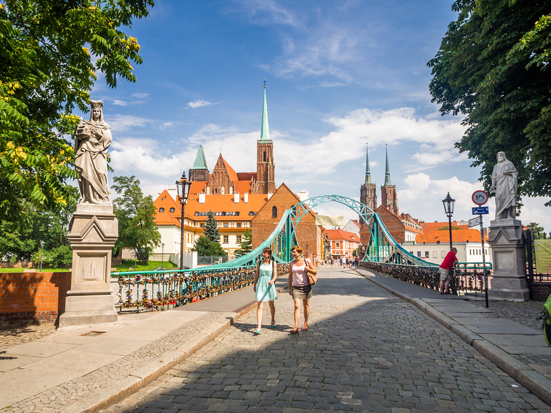 Crossing to the Island, Wrocław, Poland